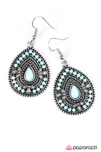 Paparazzi ♥ Dropping Daylight - Blue ♥  Earrings
