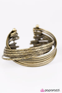 Paparazzi ♥ Stacked In My Favor - Brass ♥ Bracelet