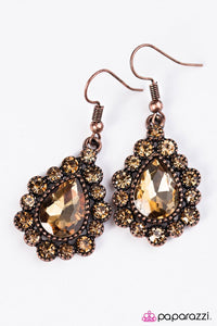Paparazzi ♥ Release Your Inner Sparkle - Copper ♥ Earrings