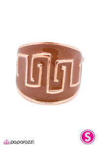 Paparazzi ♥ Aztec Heir - Copper ♥ Ring