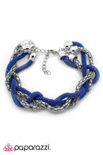 Load image into Gallery viewer, Paparazzi ♥ Catwalk Crawl - Blue ♥ Bracelet