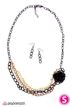 Load image into Gallery viewer, Paparazzi ♥ Rough Around the Edges - Black ♥ Necklace