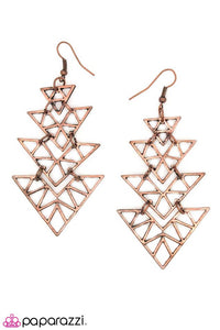 Paparazzi ♥ Straight to the Point - Copper ♥ Earrings