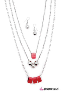 Paparazzi ♥ Fair and Square - Red ♥ Necklace