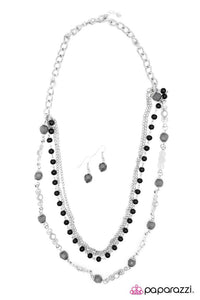 Paparazzi ♥ Cascades of Charcoal ♥ Necklace