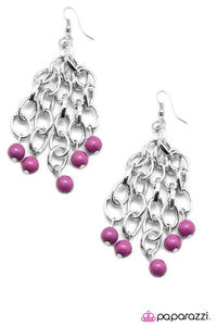 Paparazzi ♥ Center of Attention -Purple ♥ Earrings