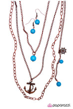 Load image into Gallery viewer, Paparazzi ♥ Sailing the Radiant Seas - Copper ♥ Necklace
