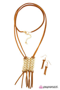 Paparazzi ♥ Infinite Fringe - Brown ♥ Necklace