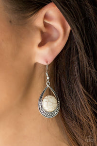 Paparazzi ♥ Richly Rio Rancho - White ♥ Earrings
