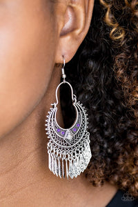 Paparazzi ♥ Walk On The Wildside - Purple ♥ Earrings