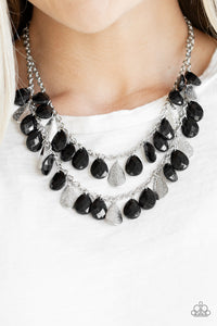 Paparazzi ♥ Life of the FIESTA - Black ♥  Necklace