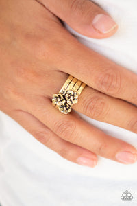 Paparazzi ♥ This ISLAND Is Your ISLAND - Brass ♥  Ring