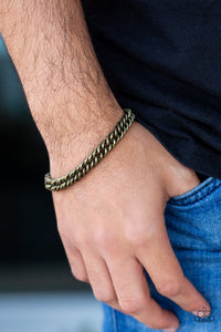 Paparazzi ♥ Next Man Up - Brass ♥  Mens Bracelet