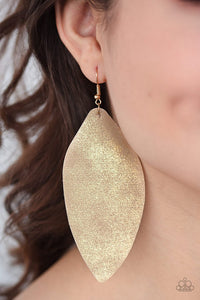 Paparazzi ♥ Serenely Smattered Two - Gold ♥ Earrings