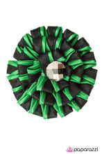 Load image into Gallery viewer, Paparazzi ♥ Candy Striper- Green ♥ Hair Clip