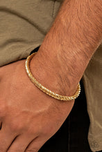 Load image into Gallery viewer, Paparazzi ♥ Mach Speed - Gold ♥  Mens Bracelet