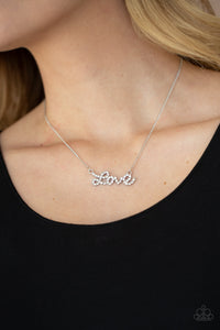 Paparazzi ♥ Head Over Heels In Love - White ♥  Necklace
