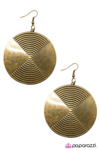 Paparazzi ♥ A Perfect Paradox - Brass ♥ Earrings