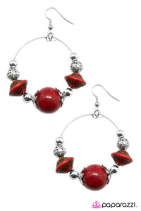 Paparazzi ♥ Move Along - Red ♥ Earrings