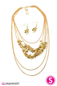 Paparazzi ♥ A Craving for Chaos - Gold ♥  Necklace