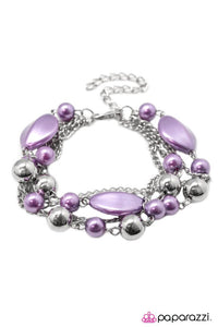 Paparazzi ♥ Jersey Girl - Purple ♥ Bracelet