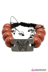 Paparazzi ♥ The Butterfly Effect - Orange ♥ Bracelet