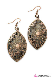 Paparazzi ♥ South by Southwest - Copper ♥ Earrings