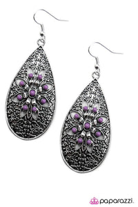 Paparazzi ♥ Day By Day - Purple ♥ Earrings
