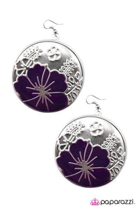 Paparazzi ♥ Welcome to Paradise - Purple ♥ Earrings
