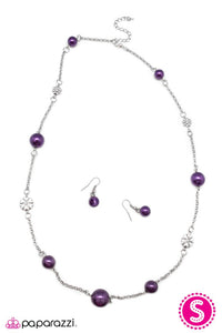 Paparazzi ♥ Living The Charmed Life - Purple ♥ Necklace