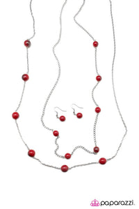 Paparazzi ♥ Take My Breath Away - Red ♥ Necklace