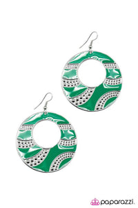 Paparazzi ♥ Dazed and Confused - Green ♥ Earrings