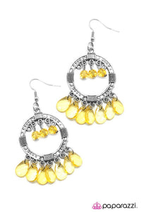 Paparazzi ♥ Cha-Cha-Cha - Yellow ♥ Earrings