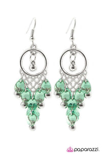 Paparazzi ♥ Daydreaming - Green ♥ Earrings