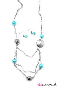 Paparazzi ♥ Ripple Of Excitement - Blue ♥ Necklace