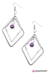 Paparazzi ♥ A Saving Grace - Purple ♥ Earrings