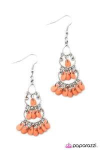 Paparazzi ♥ Heaven Sent - Orange ♥ Earrings
