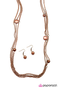 Paparazzi ♥ Life In The Big City - Copper ♥  Necklace