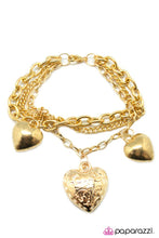 Load image into Gallery viewer, Paparazzi ♥ Achy Breaky Heart - Gold ♥ Bracelet
