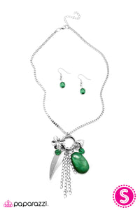 Paparazzi ♥ See How High You Can Fly - Green ♥  Necklace