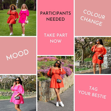 We are testing our most innovative collection. Our new selection of Poplin dresses change colour based on your mood