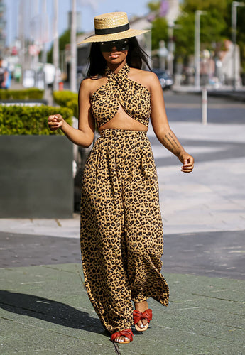 Leopard Print Pants Set enhanced - SETSOFRAN