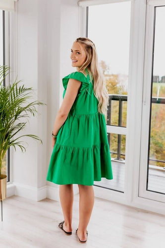 SETSOFRAN Green Poplin Dress side