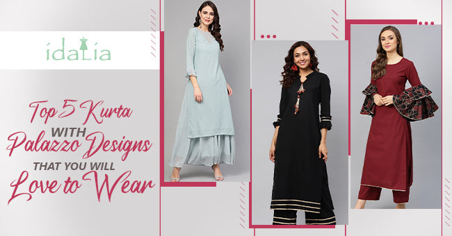 Kurta with Palazzo Designs That You Will Love to Wear