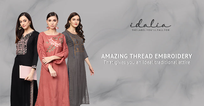Amazing Thread Embroidery That Gives You An Ideal Traditional Attire