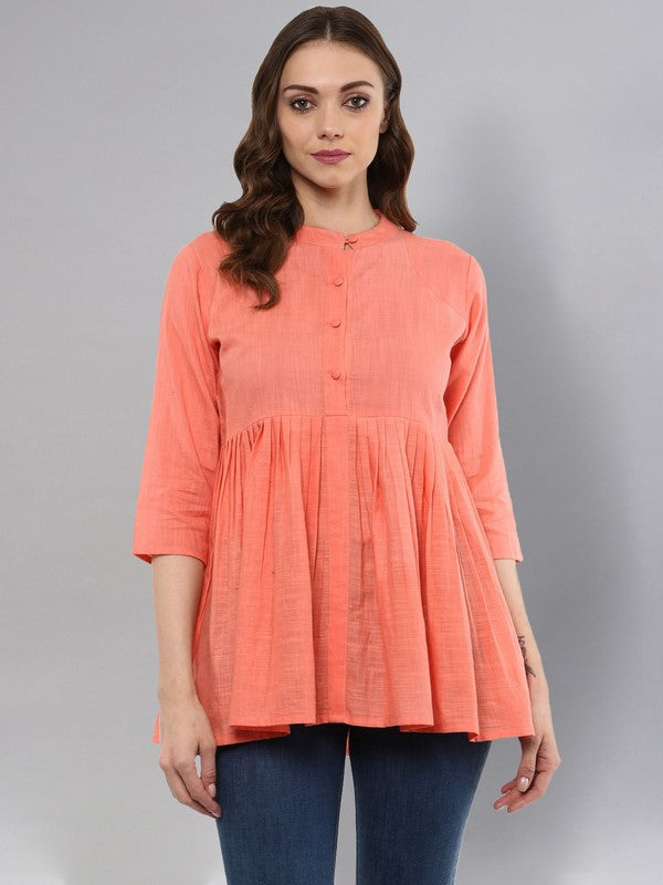 Idalia Peach Flared Top