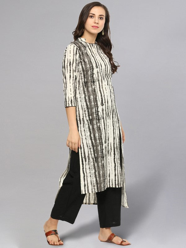 Idalia Tie Dye Print MultiColoured Straight Kurta