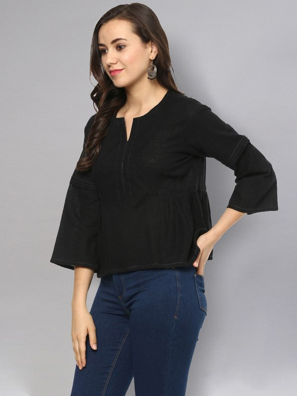Idalia Black Solid Top