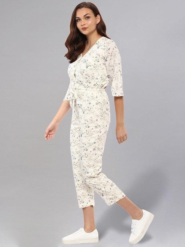 Idalia Off White Printed Jumpsuit