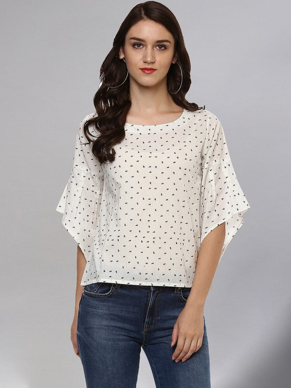 Idalia Printed White Top